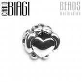 Carlo Biagi Bead Valentinsherz European Beads BBS001