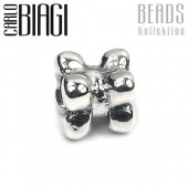 Carlo Biagi Bead Hundeknochen Silber European Beads BBS049