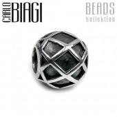 Carlo Biagi Bead Gitterdekor Silber European Beads BBS062