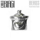 Carlo Biagi Bead Babyflasche Silber European Beads BBS066
