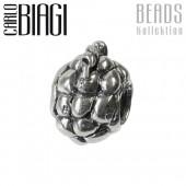 Carlo Biagi Bead Weintraube Silber European Beads BBS086