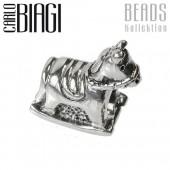 Carlo Biagi Bead Schaukelpferd European Beads BBS091