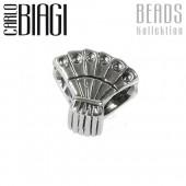 Carlo Biagi Bead Hand Fächer Silber European Beads BBS143