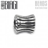 Carlo Biagi Bead Linien Walze Silber European Beads BBS161