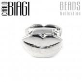 Carlo Biagi Bead Kuss Mund Silber European Beads BBS221