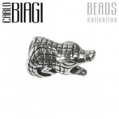 Carlo Biagi Bead Alligator Silber European Beads BBS225