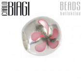 Carlo Biagi Bead Kugel Blume Silber European Beads BBST02