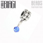 Carlo Biagi Dangle Bead Saphir European Beads BDBB09