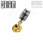 Carlo Biagi Dangle Bead YinYang European Beads BDBG13