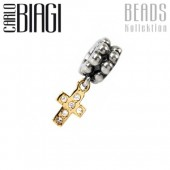 Carlo Biagi Dangle Bead Kreuz Silber European Beads BDBG18