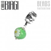 Carlo Biagi Dangle Bead Gänseblume grün European Beads BDMGD04