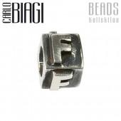 Carlo Biagi Bead Buchstabe F Silber European Beads BLPF