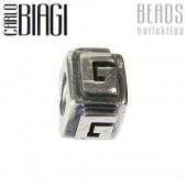 Carlo Biagi Bead Buchstabe G Silber European Beads BLPG