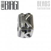 Carlo Biagi Bead Buchstabe K Silber European Beads BLPK