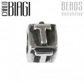 Carlo Biagi Bead Buchstabe T Silber European Beads BLPT