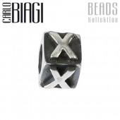 Carlo Biagi Bead Buchstabe X Silber European Beads BLPX