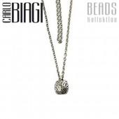 Original Carlo Biagi Bead Kette 70cm 925 Silber BNLSA70