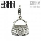 Carlo Biagi Charm Anhänger Handtasche 925 CSCZS05C
