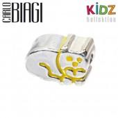 Carlo Biagi Kidz Bead Katze Silber Beads für Armband KBE006