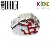 Carlo Biagi Kidz Bead Hase rot 925 Beads für Armband KBE027