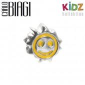 Carlo Biagi Kidz Bead Sonne gelb 925 Beads für Armband KBE036