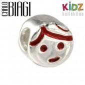 Carlo Biagi Kidz Bead Mädchen rot 925 Beads für Armband KBE042