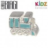 Carlo Biagi Kidz Bead Lok blau 925 Beads für Armband KBE058