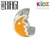 Carlo Biagi Kidz Bead Mond gelb 925 Beads für Armband KBE068