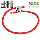 Carlo Biagi Kidz Bead Armband Kautschuk rot 925 KBRRLR