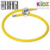 Carlo Biagi Kidz Bead Armband Kautschuk gelb 925 KBRRLY