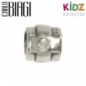 Carlo Biagi Kidz Bead Kreuz Silber Beads für Armband KSB99