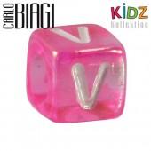 Carlo Biagi Kidz Bead Buchstabe V Beads für Armband KSPPLV