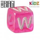 Carlo Biagi Kidz Bead Buchstabe W Beads für Armband KSPPLW