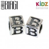Carlo Biagi Kidz Bead Buchstabe B Silber Beads KSSLB