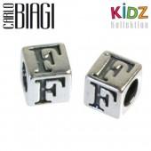 Carlo Biagi Kidz Bead Buchstabe F Silber Beads KSSLF