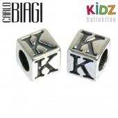 Carlo Biagi Kidz Bead Buchstabe K Silber Beads KSSLK