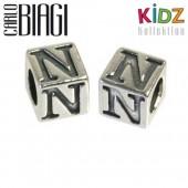 Carlo Biagi Kidz Bead Buchstabe N Silber Beads KSSLN