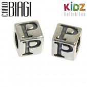Carlo Biagi Kidz Bead Buchstabe P Silber Beads KSSLP