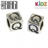 Carlo Biagi Kidz Bead Buchstabe Q Silber Beads KSSLQ