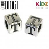 Carlo Biagi Kidz Bead Buchstabe T Silber Beads KSSLT