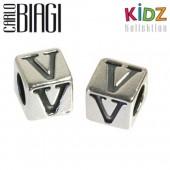 Carlo Biagi Kidz Bead Buchstabe V Silber Beads KSSLV