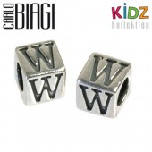 Carlo Biagi Kidz Bead Buchstabe W Silber Beads KSSLW