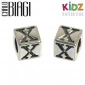 Carlo Biagi Kidz Bead Buchstabe X Silber Beads KSSLX