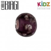 Carlo Biagi Kidz Glas Bead lila Leuchtet im Dunkel KBGG03PR