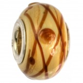 IMPPAC Glas 925 Spacer Karamell European Beads SMB8002