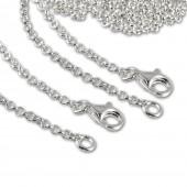 SilberDream 925 Silber Charm Halsketten Set 2x90cm FC00299-2