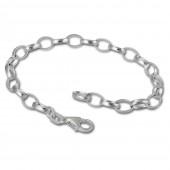 SilberDream 925 Sterling Silber Charm Bettelarmband 21cm FC0104