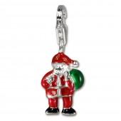 SilberDream Silber Charm Weihnachtsmann Armband Anhänger FC3112