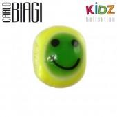 Carlo Biagi Kidz Glas Bead gelb mit Smiley KBGS09
