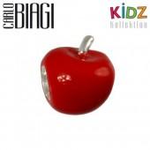 Carlo Biagi Kidz Bead roter Apfel Silber Beads KBE098